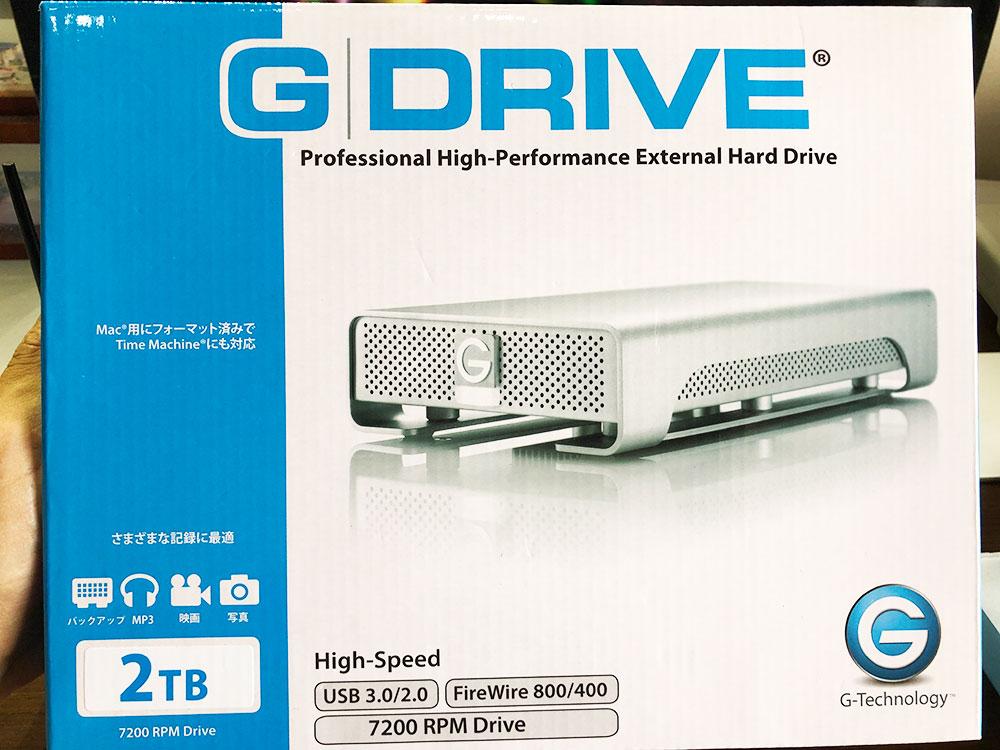 \Mac バックアップ 外付け/G-DRIVE(G-Technology)