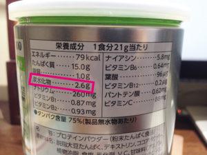 糖質制限ダイエット(ソイプロテイン)